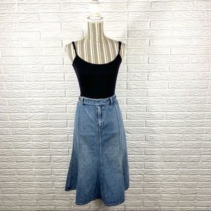Vtg 90s Lauren Ralph Lauren | Denim Midi Skirt